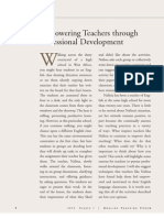 Empowering Teachers Through Professional Development