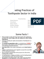 Marketing Practices of Toothpaste Sector in India1