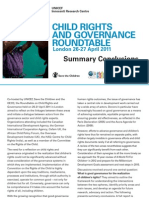Child Rights and Governance Roundtable