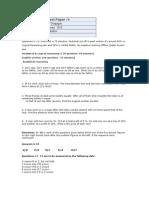 Test Paper4 Fresher World