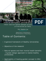 Introducing healing gardens into a compact university campus