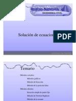 CALCULO DE RAICES