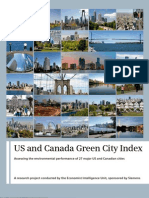 US and Canada Green City Index