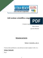 Atti Sezione Scientifica Congressuale Acqua Beach, Cesena, 2011