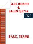 Sales Budget and Sales Quota- Sales and Distribution Ppt