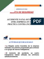 ACCIDENTE FATAL EN PRACTICA CON EXTINTORES