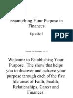 Establishing Your Purpose in Financesrv61008