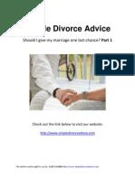 Simple Divorce Advice
