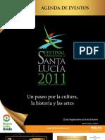 Agenda de eventos del Festival Internacional Santa Lucía 2011
