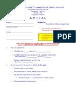 Cal-OSHA Appeal Form