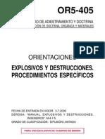 59187027 OR5 405 Orientaciones Explosivos y Destrucciones Procedimientos Especificos Spain 2000
