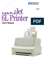 HP LaserJet 6L User's Manual