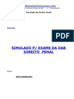 SDP01 Simulado Direito Penal OAB
