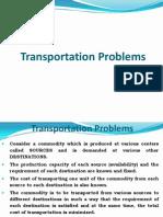 Transportation Problems 5