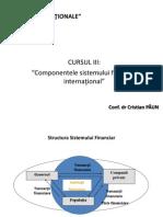Cursul 3_Componentele Sistemului Financiar International