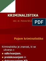 KRIMINALISTIKA - slajdi