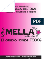 Plataforma La Mella en Derecho 2011