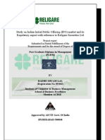 Project Report on Indian IPO Special Reference With Religare Securites