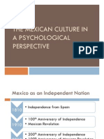 The Mexican Culture in a Psychological Perspective (r)