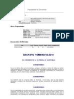 DECRETO # 55-2010 Ley de Extincin de Dominio