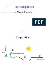 Lecture Evapotranspiration