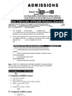 Mbbs Bds Admission 2010