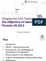 Objective of Halving Poverty