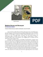 Madame Bovary and Bovarysm