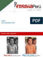 Presentación de Enseña Perú