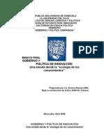 GOBIERNO Y POLITICA DE INNOVACIÓN
