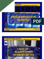Baina Lec16 ModuleIV Sorting Algorithms 3 Advanced Sorting Algorithmes