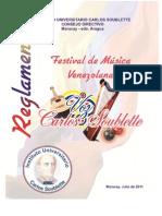 Reglamento Festival de Musica Venezolana Voz Carlos Soublette