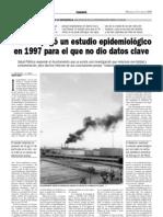 Sanidad PAGÓ UN ESTUDIO EPIDEMIOLÓGICO EN 1997 PARA EL QUE NO DIO DATOS CLAVE 817-06-2009)