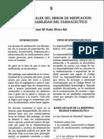 Aspectos legales de los errores de medicación. José María  Suñé y E lvira Bel