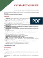 Guía basica LXDE