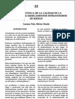 Mejora continua de la calidad en la dosificación de medicamentos de riesgo. Carmen Polo y Mireia Tienda.