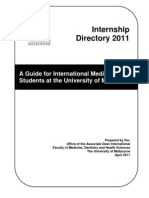 Melb Uni Internship Directory 2011 by Country