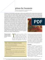 Treatment Options for Insomnia