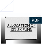 Allocation of 10% Sk Fund