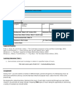 AF Contextualising Music Assessment Brief Term 1 2011-12