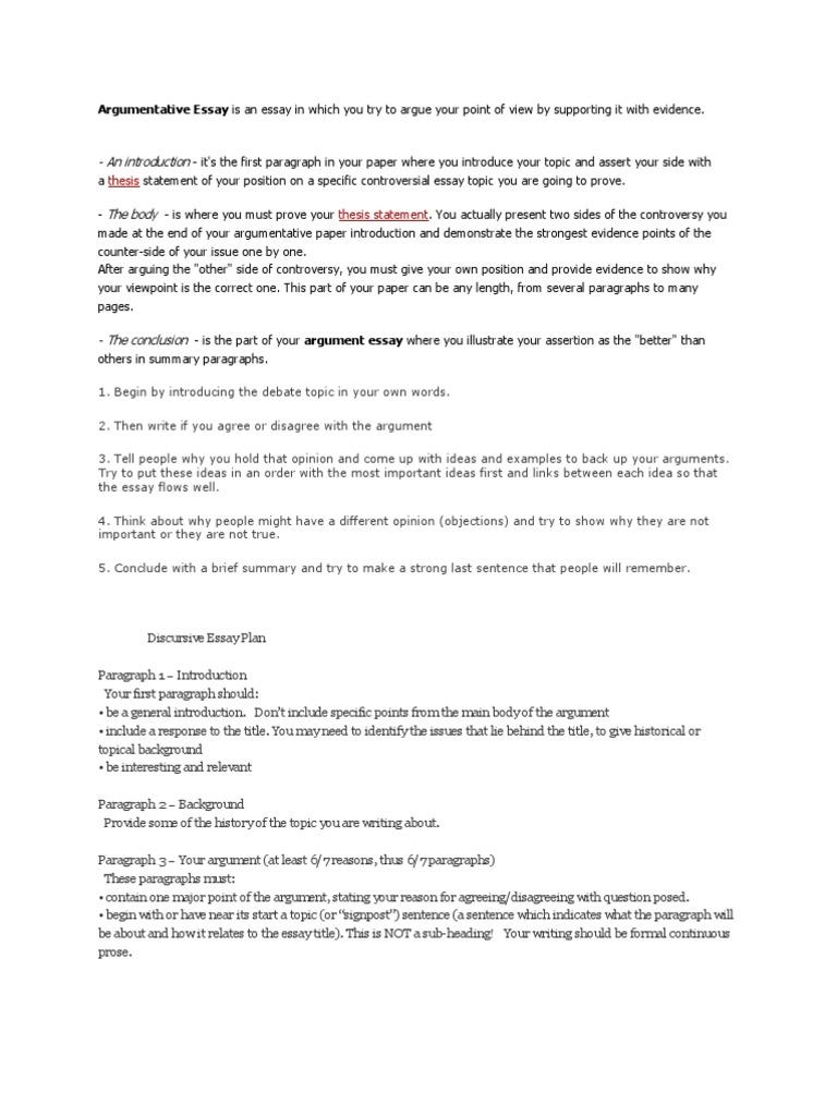Discursive Essay Sample Free Essays