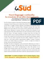 Scheda DaSud Workshop Antimafia