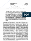 Response of Terrestrial Microorganisms to a Simulated Martian Environment