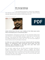 An Interview With Anurag Kashyap