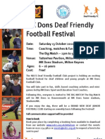 MK Dons Deaf Friendly Football Festival - Publicity & Booking Form