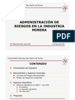 Admin is Trac Ion de Riesgos en La Industria Minera
