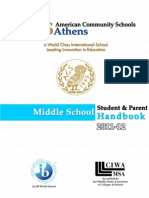 MS Student Parent Handbook 2011-12