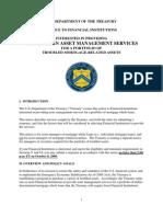 US Government RFP -- Whole Loan Asset Management Services -- Financial Crisis