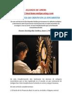 La Presencia de Cristo en La Eucaristia