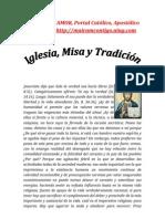 IGLESIA, MISA Y TRADICION | ALIANZA DE AMOR
